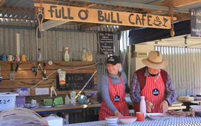 "Smoko at the NEW ""Full 'o Bull""cafe."